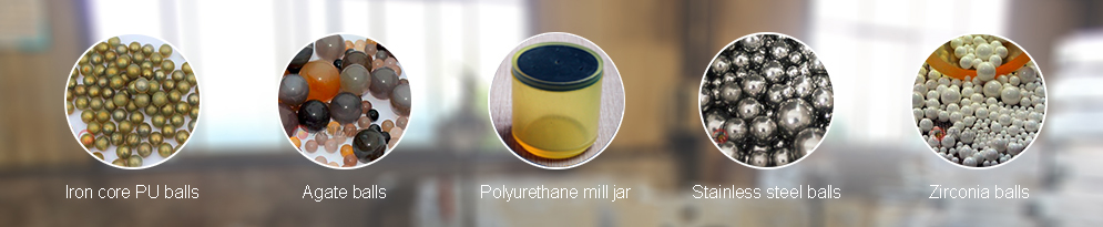 Polyurethane mill jar can be matched with iron core PU balls, agate balls, stainless steel balls, and zirconia balls.