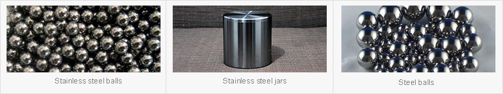 Stainless steel mill jar can be matched with stainless steel balls and steel balls